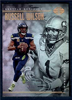 2018 Panini Illusions Football #93 Russell Wilson/Warren Moon Seattle Seahawks Official NFL Trading Card