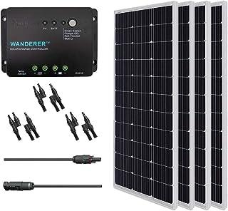 Renogy 400 Watt 12 Volt Monocrystalline Solar Panel, Bundle Kit with 30A Negative ground Charge Controller