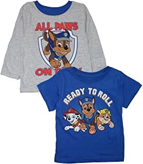 Nickelodeon Little Boys' Paw Patrol Two-Pack Screen-Print Tops