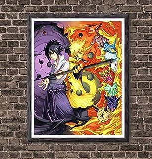 Manga Anime Naruto One Piece Hunter x Hunter Tokyo Ghoul Dragon Ball Hero Academia Demon Slayer Canvas Art Print Poster for Home Decoration