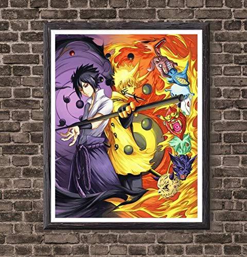 Manga Anime Naruto One Piece Hunter x Hunter Tokyo Ghoul Hero Academia Demon Slayer Canvas Art Print Poster for Home Decoration