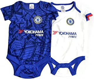 Chelsea FC Unisex Baby 2019/20 Bodysuits (Pack of 2)