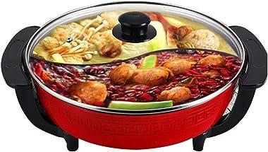 Electric Cooking Pot Electric Hot Pot double Soup Pots Non Stick Smokeless Home Kitchen Cookware pot Electric cooker 5L