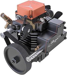 SESAY Toyan Moteur de Toyan FS-S100A, Cylindres Simple Quatre-Temps Modèle de Moteur Métal, Engine pour 1:10 1:12 1:14 RC ...