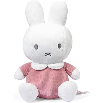 ミッフィーのぬいぐるみピンクリブ柄 - 赤ちゃんから子供までギュッとしたくなる可愛いウサギのぬいぐるみ - 公式ディックブルーナ(背丈20cm)