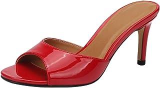 Fashion Sandales D'été Soirée à Talon Pantoufles Fin Talon Aiguille De 8 CM
