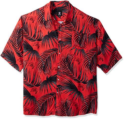 Tampa Bay Buccaneers NFL Mens Hawaiian Button Up Shirt - XXL