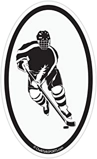 Hockey Car Magnet | Hockey Player Silhouette
