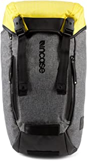 Incase Halo Collection Courier Backpack, Heather Gray/Black/Yellow, One Size