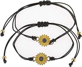 PONCTUEL ESCARGOT Dainty Yellow Sunflower Bracelet Chic Enamel Flower Wrist Jewelry Women Girls Summer