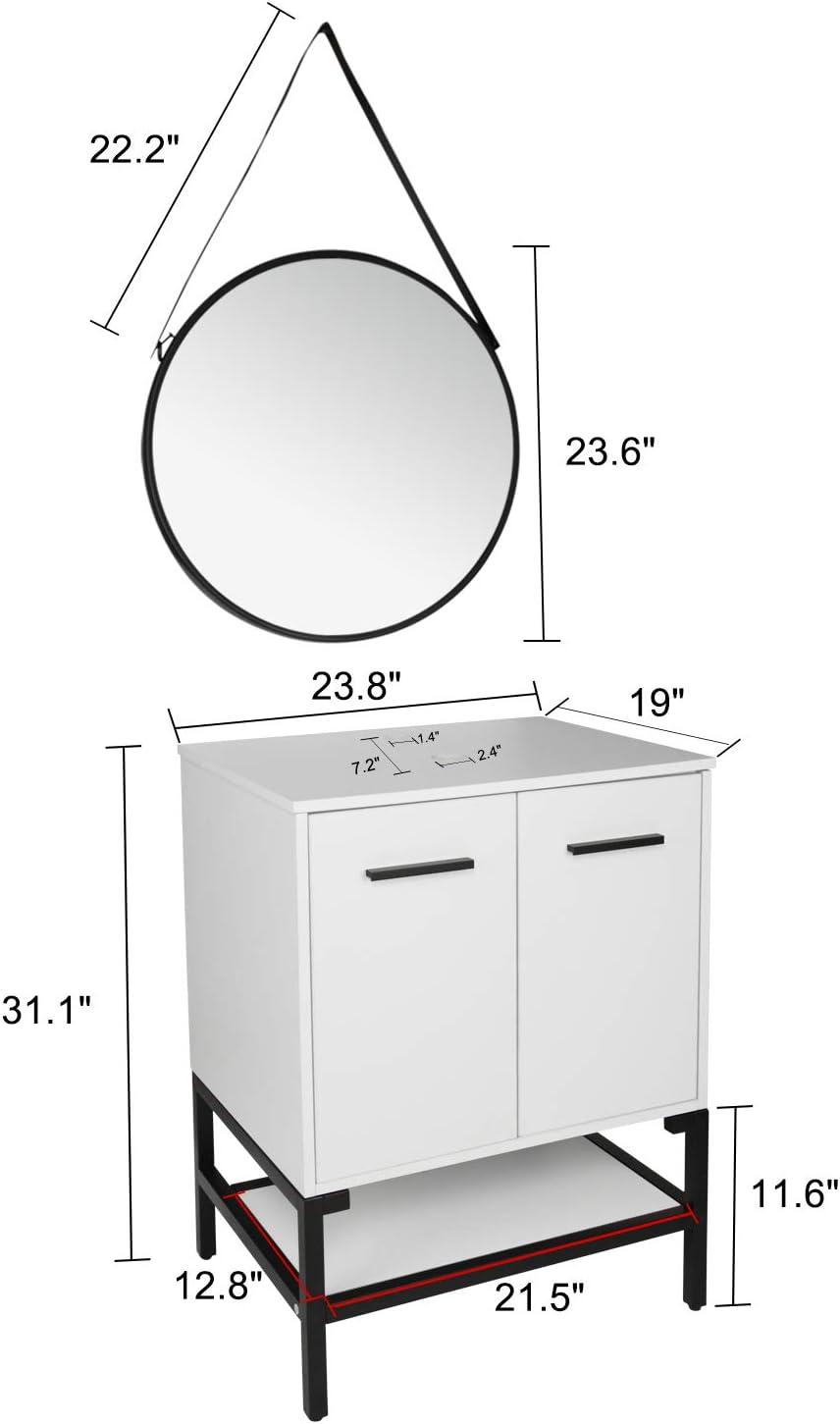 Buy Yourlite 24 Inch White Bathroom Vanity Modern And Stylish Design With Mirror Floor Cabinet Bathroom Vanity Online In Germany B08tbhbjmb