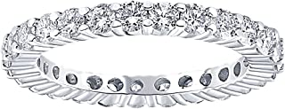 1 Ct Diamond Eternity Ring 10k White Gold Womens Wedding Band