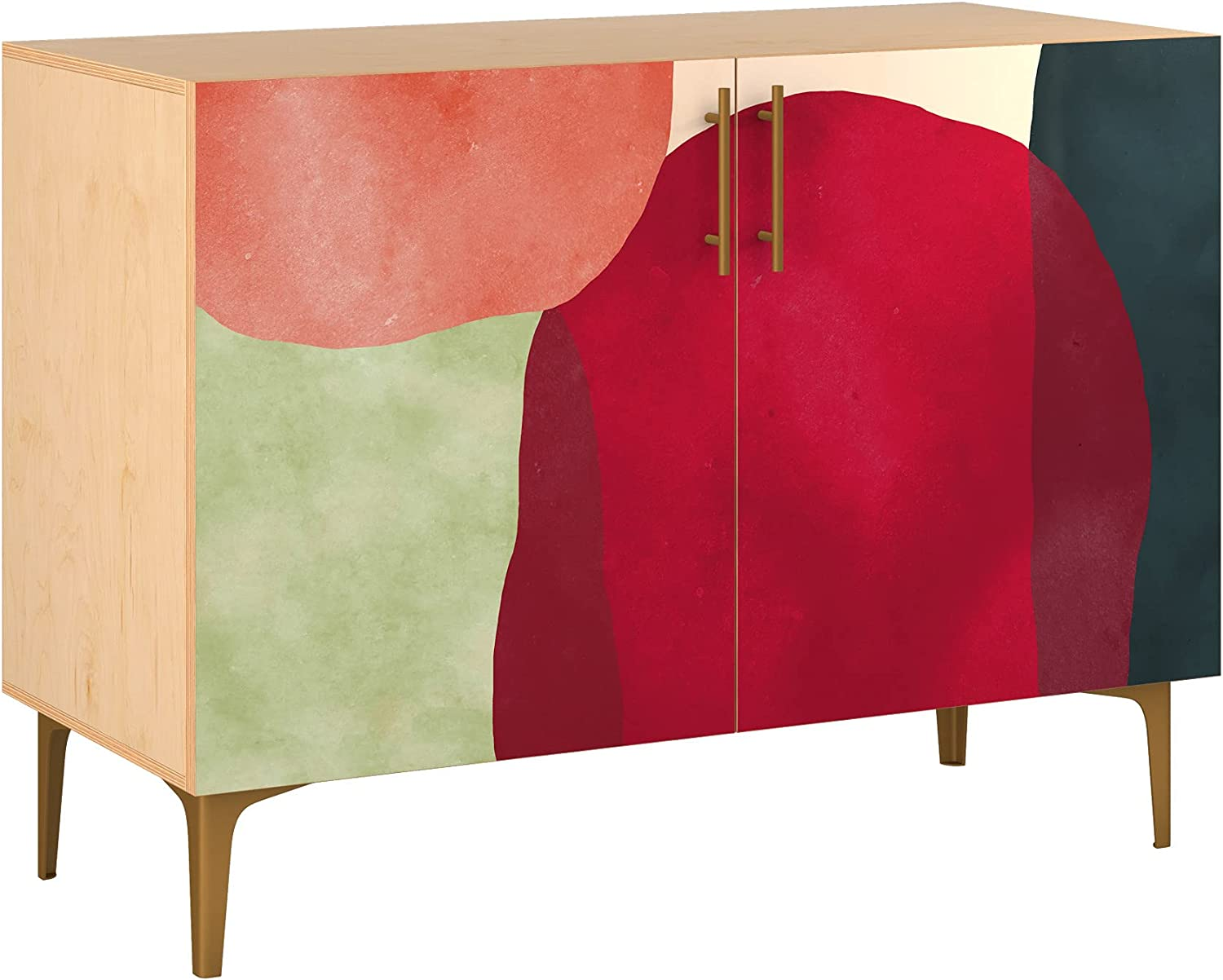 Poppy Credenza - Natural Sadie San Jose Mall Design Base Direct stock discount Styl 5 11 in Colors