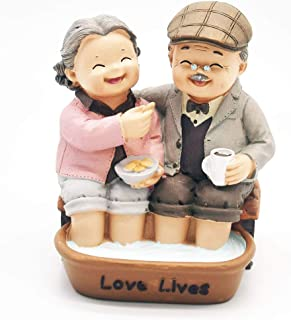 yuhqc Homely Creative Furnishing Articles Display, Home Decoration, Gift, Anniversary, Anniversary Loving Couple, Handmade, Hand-Painted Resin Figure, Father's Day, Mother's Day, Birthday Gifts