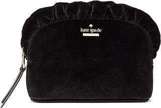 designer black suede clutch bag