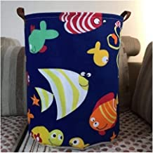 New Cartoon Animal Folding Waterproof Laundry Hamper Clothes Storage Baskets Home Decoration Barrel Kids Toy Organizer Bucket (Color : E)