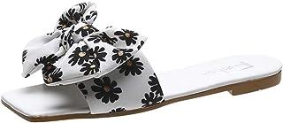 Fomino Hausschuhe Damen Bowknot Flat Sandalen FrauenMode Große Größe Pantoffeln Badeschlappen Rutschfeste Pantoffeln Weich...
