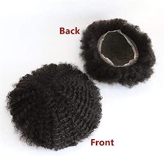 Lumeng Afro Toupee Man Weave Hair Unit Black Men Black Mens Curly Toupee 100% Human Hair African American Toupee for Men Man Weave Hair Unit 8x10inch All French Lace 1# Jet Black