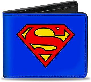 Buckle-Down PU Bifold Wallet - Superman Blue