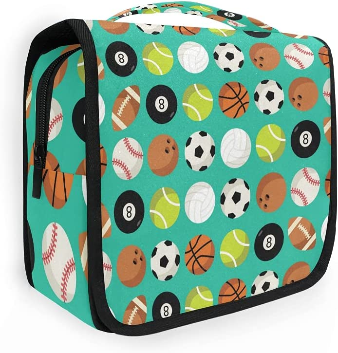 OMBRA Travel Award-winning Max 48% OFF store Toiletry Bag Soccer Bowling B Basketball Rugby Ball