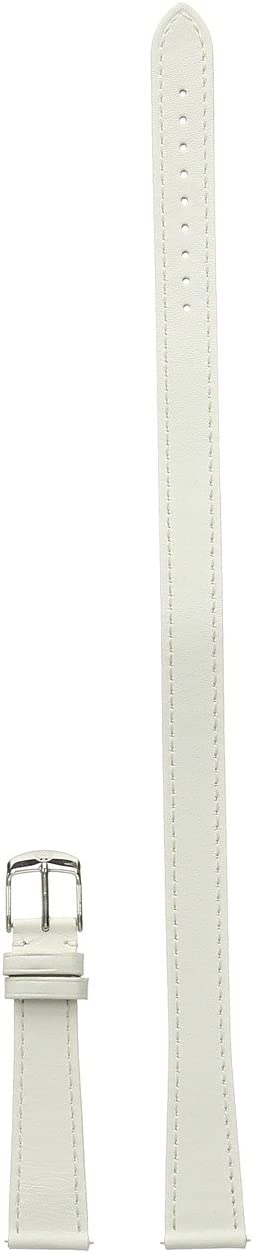 Michele 18mm Leather Double Wrap Strap White