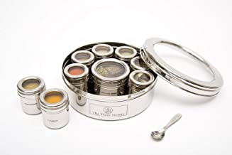The Three Sisters India Hand Crafted Stainless Steel Masala Dabba Spice Tins   Kitchen   Seasoning Canisters With Indian S...