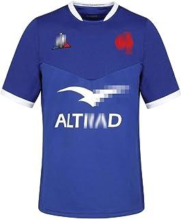 メンズラグビーシャツ、2021年最新のフランスホームアンドアウェイラグビージャージー、フレンチ半袖刺繍ポリエステルラグビーTシャツ、S-XXXXXL、