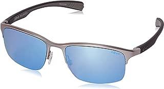 Revo Fuselight RE 1016 03 BL Polarized Rectangular Sunglasses, Chrome, 58 mm