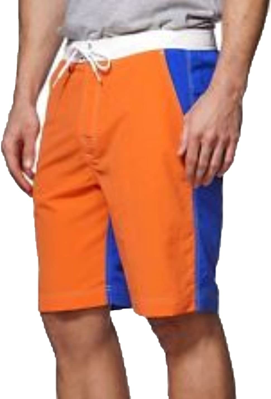 Chaps Men's Big & Tall Color-Blocked Board Swim Shorts