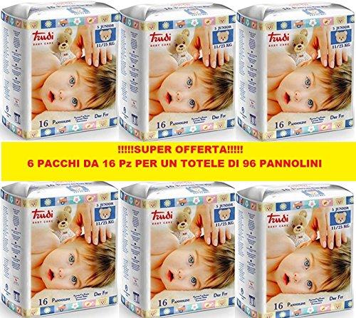 PANNOLINI TRUDI BABY CARE JUNIOR 11/25 Kg CONFEZIONE 6 PZ