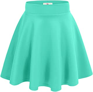 NYL Womens A-Line Flared Skater Skirt Reg and Plus Size - Made in USA