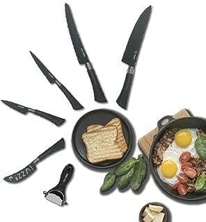 Set De Couteau De Cuisine Professionnel - 5 Couteaux Cuisine Professionnelle en Céramique + Eplucheur - Royal Swiss Ensemb...