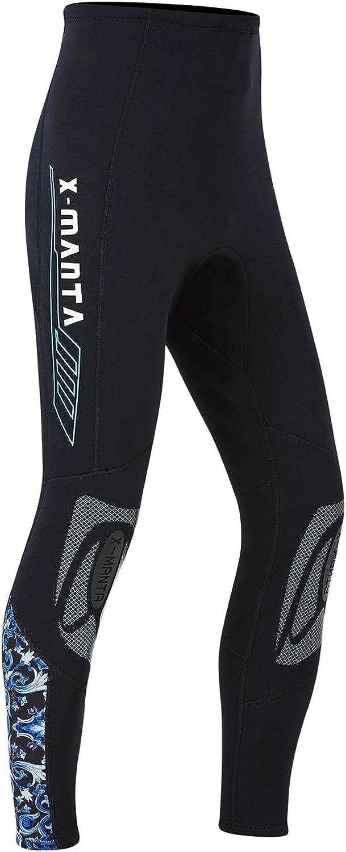 Owntop Pantalones de Neopreno para Hombres Mujeres Jóvenes - 3MM Trajes de Baño Térmico, Mallas de Traje de Buceo Protección Solar UV 50+ para Esnórquel, Buceo