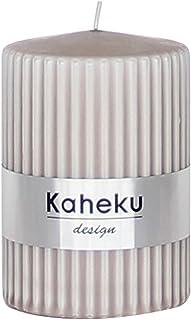 Kaheku Stabkerze Leuchterkerze Spitzkerze Apuro schwarz durchgef/ärbt d2,2 h29 cm