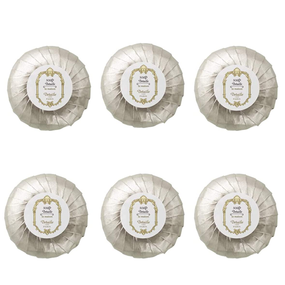 冷蔵する比類のない特別なPOLA デタイユ ラ メゾン スキンソープ 固形石鹸 (プリーツ包装) 50g×6個