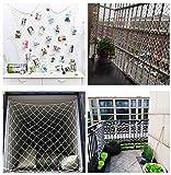 ZGQSW Sicherheitsnetz,Kind Schutznetz Webnetz Katzennetz,Balkon Treppe Leitplanke Anti-Fallen Kindergarten Dekoration Klettern Trampolin Klettern Seilnetz Weiß 2x8m (Color : Mesh 5cm, Size : 2 * 8m)