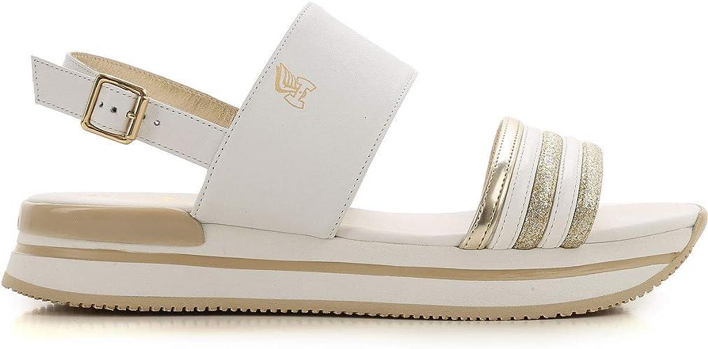 Hogan Sandali Donna Hxw2570bk00iweb001 Pelle Bianco : Amazon.it: Moda