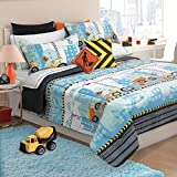 Safdie & Co. 60517.3DQ.04 Comforter 3Pc Set Microfiber DQ Under Construction Multi, Full, Queen
