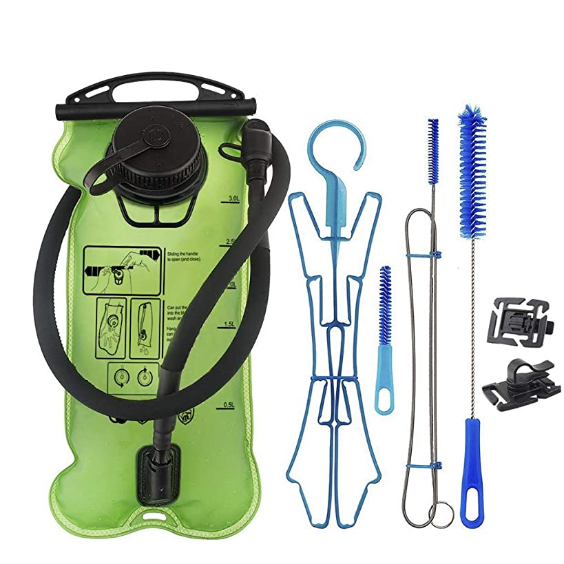 VICBAY Hydration Bladder 3 Liter, TPU Water Bladders with Hydration Cleaning Kit and Hydration Tube Clips, Water Reservoir FDA LFGB Certificate Leak Proof for Cycling Hiking
