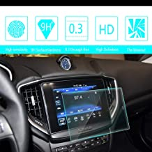 8X-SPEED for 2017 2018 Maserati Ghibli Car Navigation Screen Protector HD Clarity 9H Tempered Glass Anti-Scratch, in-Dash Media Touch Screen GPS Display Protective Film