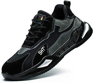 WggWy Zapatos de trabajo ligeros y transpirables, de seguridad, para hombre, de moda, informales, deportivos, de protecció...