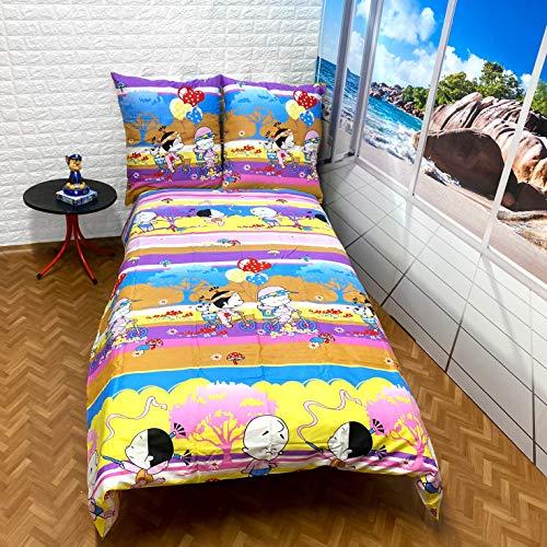 Kids Cartoon Parure de lit housse de couette 160 x 200 simple 100% coton satiné Parure de lit