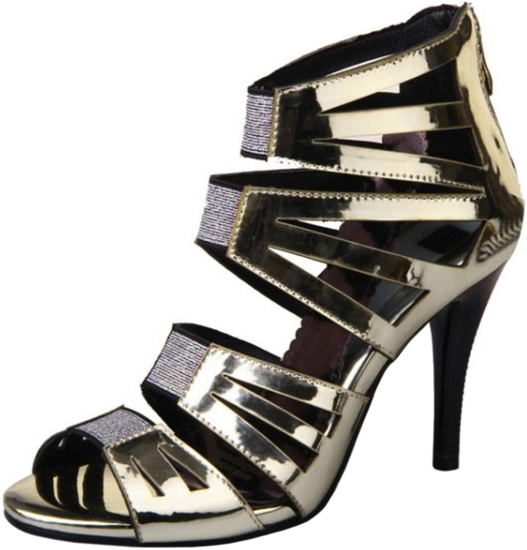 TAOFFEN Women Fashion High Heels Sandals