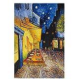 Reproducciones de pintura al óleo vintage del famoso Van Gogh Café, carteles y grabados nórdicos, cuadros en lienzo sin marco A5 15x20cm