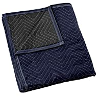 """Sure-Max Moving & Packing Blanket - Pro Economy - 80"""" x 72"""" (35 lb/dz weight) - Professional Quilted Shipping Furniture Pad Navy Blue and Black - 1 Blanket"""