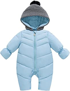 dcc8874bd6d30 Genda 2Archer Unisex Baby Hooded Puffer Jacket Jumpsuit Winter Snowsuit Coat  Romper