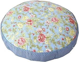 """Floor Pillow Thicken Cushion Japanese Futon Round Seat Cushion 21.6"""" x 21.6"""",A5"""
