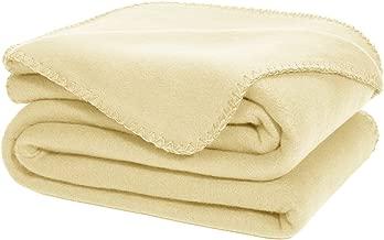 DOZZZ Oversize Flannel Polar Fleece Throw Blanket 70 x 50 Fuzzy Plush Microfiber for Couch Cover Sofa Chair Bed Cream