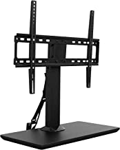 Mount-It! Table Top TV Stand Riser for Flat Screen and Curved 37 39 40 43 49 50 55 65 70 Inch Televisions   70 Degree Swivel and 13 Degree Tilt   VESA Compatible Mount up to 600x400mm and 77 Pounds