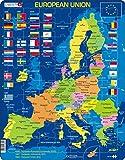 Larsen A39 La Unión Europea (UE), edición en Inglés, Puzzle de Marco con 70 Piezas